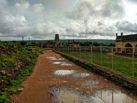 A rainy day inside Gandikota fort