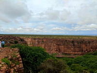 Admiring the Gandikota canyon view