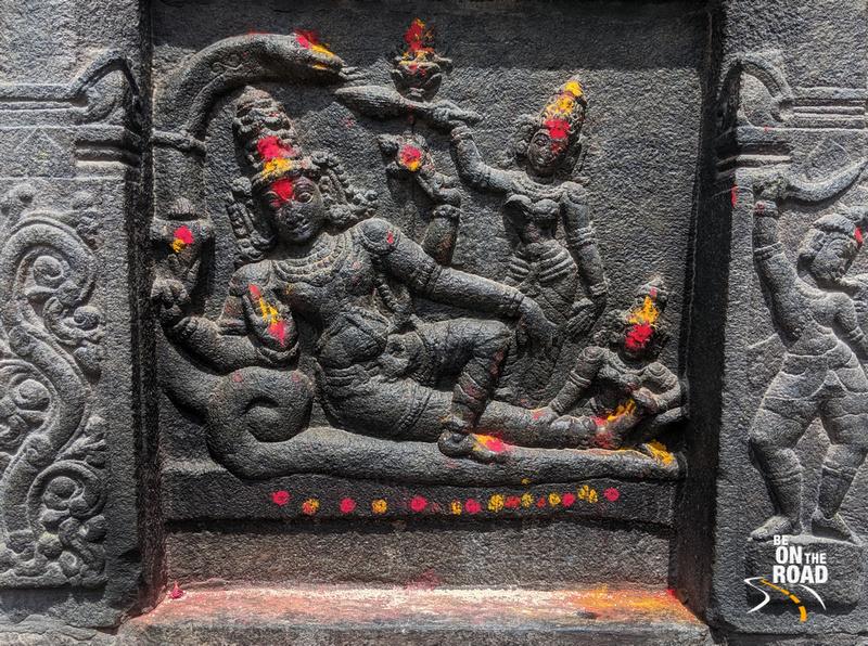 Ananta Sayana Vishnu on the walls of Chintala Venkataramana Temple, Tadipatri