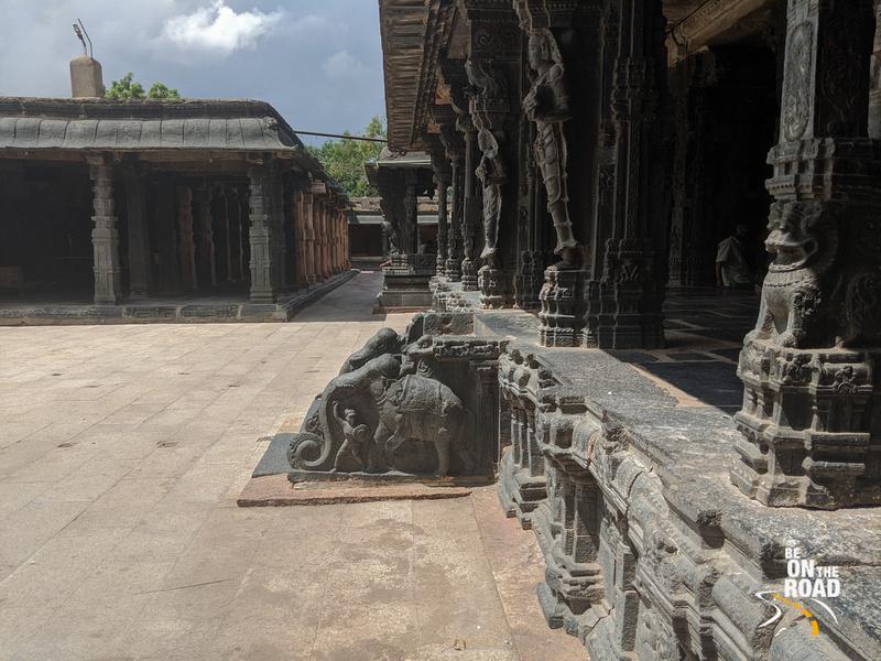 The elephant staircase leading to the garbha griha of Chintala Venkataramana Temple, Tadipatri