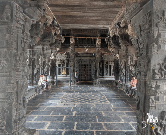 The hall leading to the garbha griha at Chintala Venkataramana Temple, Tadipatri