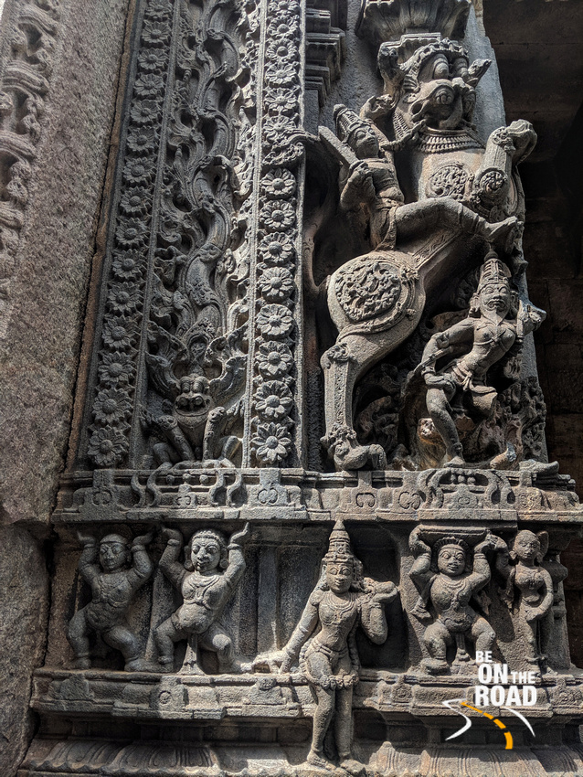 Ornate sculptures on the gopurams at Bugga Ramalingeswara Swamy temple, Tadipatri