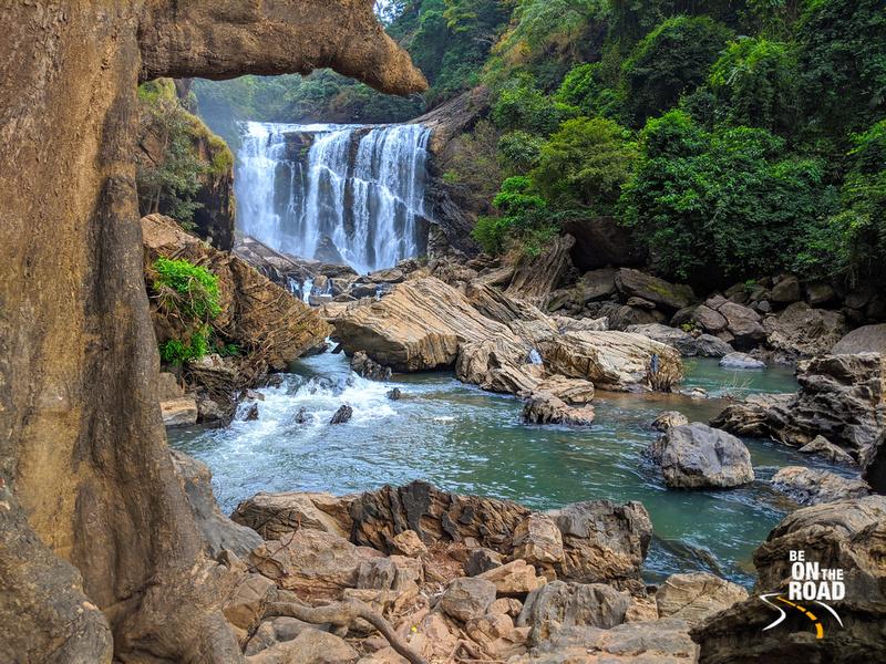 A myriad of greens and blues at Sathodi Falls, Uttara Kannada, Karnataka