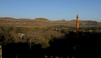 Chand Minar and the Sahyadris as seen from Daulatabad Fort