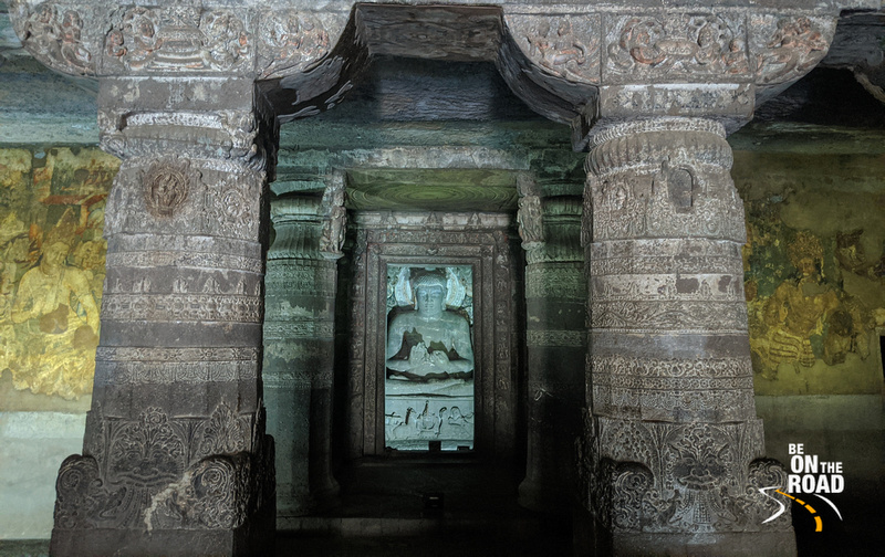 Hall inside cave 1, Ajanta Caves
