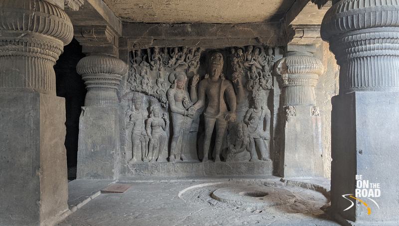 Parvati's wedding to Shiva, Rameshwar temple, Cave 21, Ellora
