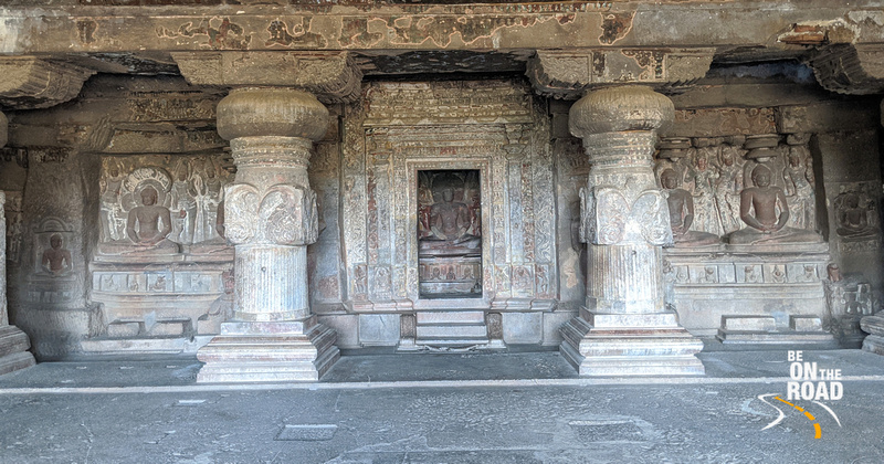 The beautiful Jain temples at Ellora, Maharashtra