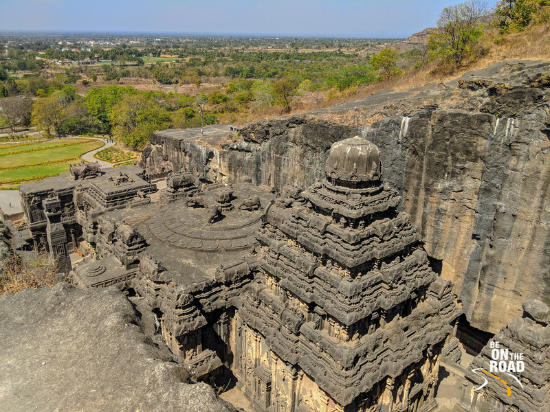 Kailasa temple - the single largest rock excavation in the world