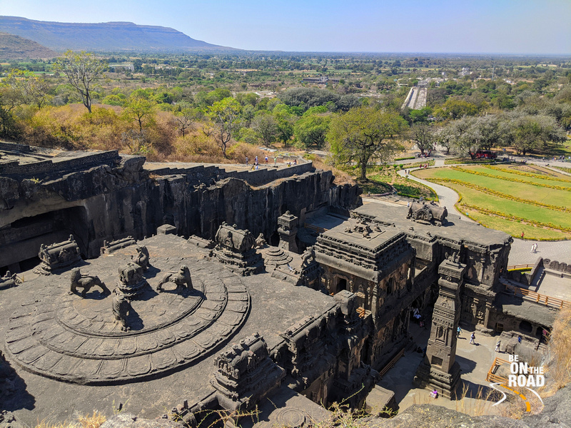 The top view of Kailasa temple, Ellora