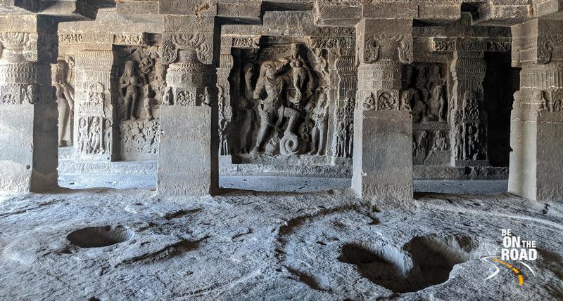 Lord Varaha killing Hiraniyakashyap - Cave 15, Ellora Caves