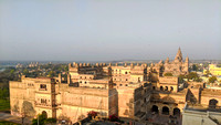 The Chhatris, Raja Mahal, Chaturbhuj temple and Ram Raja temple as seen from the top of Jehangir Mahal, Orchha