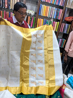 Shopping for the famous sarees of Chanderi, Madhya Pradesh