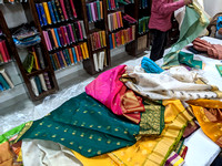 Iconic sarees of Chanderi available in different colors and designs