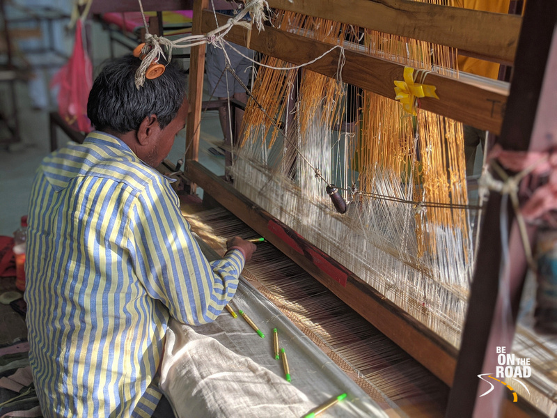 Getting a closer look at the Chanderi saree weaving industry