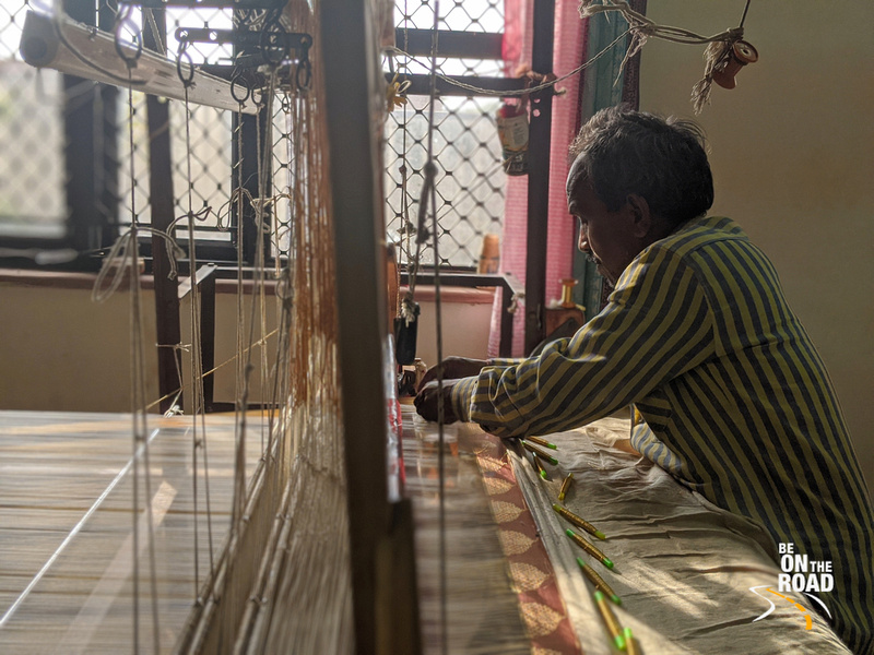 A portrait of a Chanderi saree weaver