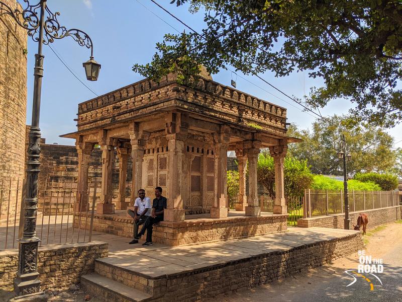 Chilling next to Badal Mahal, Chanderi, Madhya Pradesh