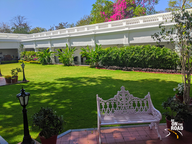 Jehan Numa Palace hotel is famous for its gardens and home like atmosphere