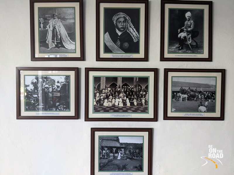 History on the walls of Jehan Numa Palace