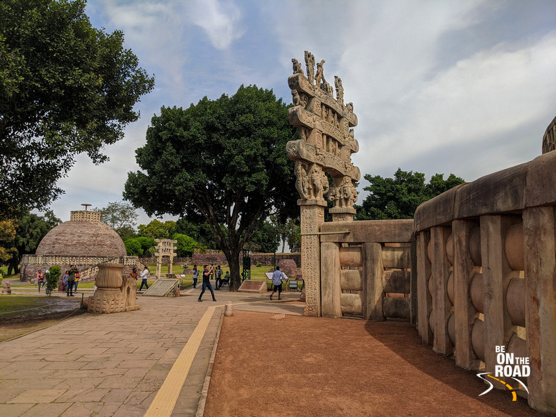 The famous torana of Sanchi Stupa, Madhya Pradesh
