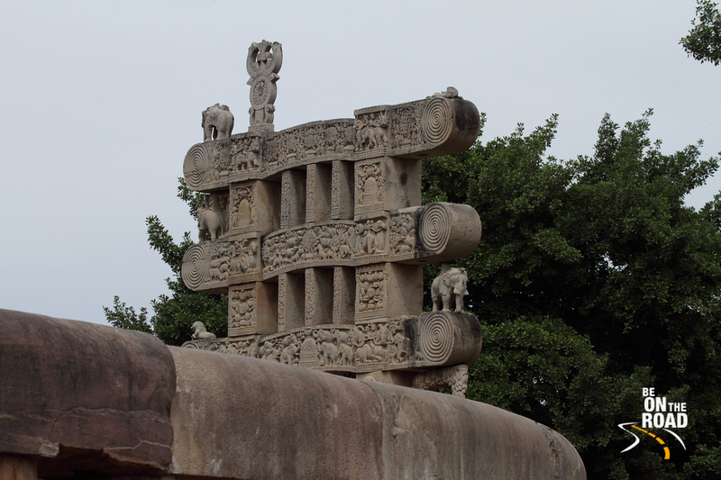The famous toranas of Sanchi Stupa, Madhya Pradesh