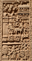 Intricate carvings on the torana of Sanchi Stupa - the best of its time