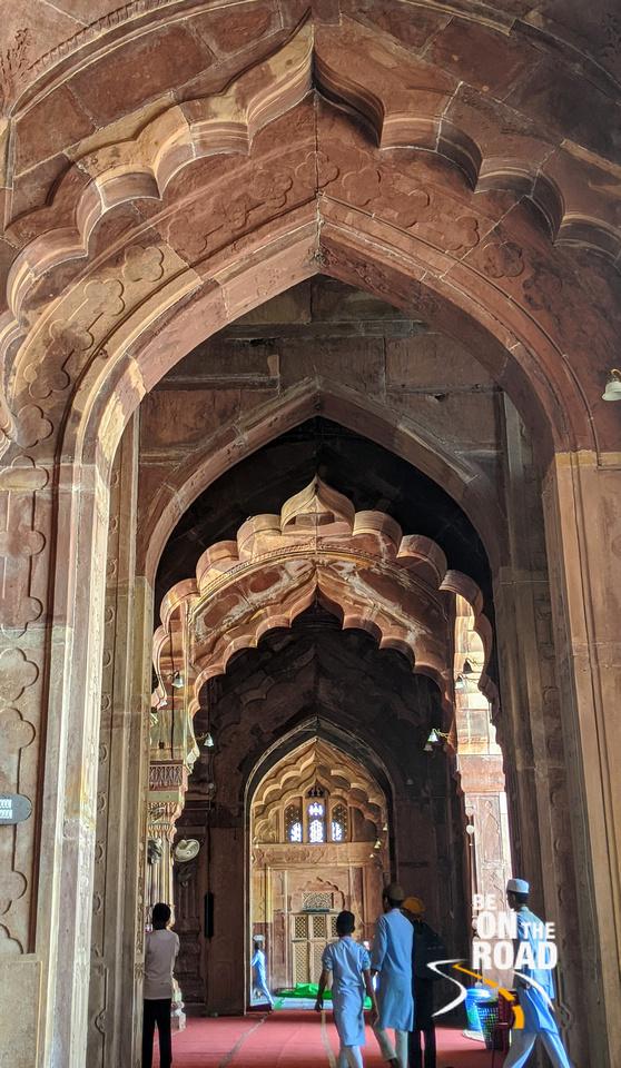 The beautiful arches of Taj-ul-Masajid, Bhopal