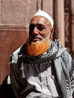 A portrait of a local at Taj-ul-Masajid, Bhopal
