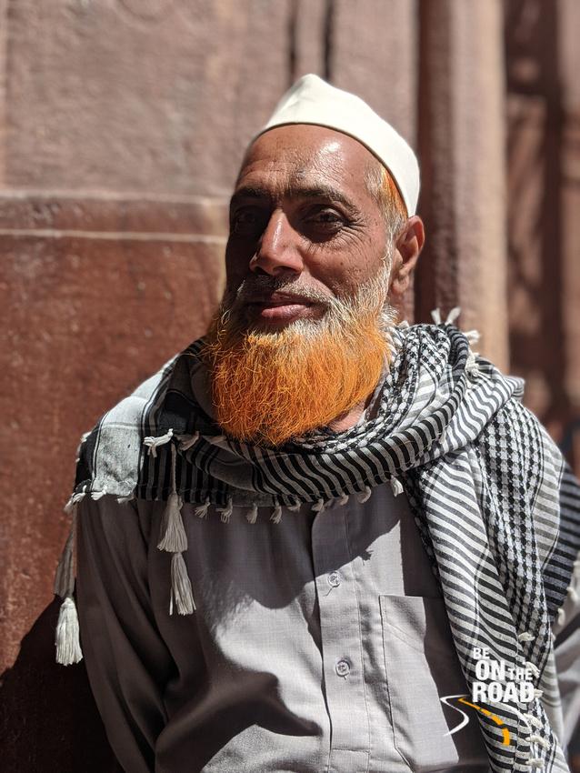 A portrait of a local at Taj-ul-Masajid, Bhopal