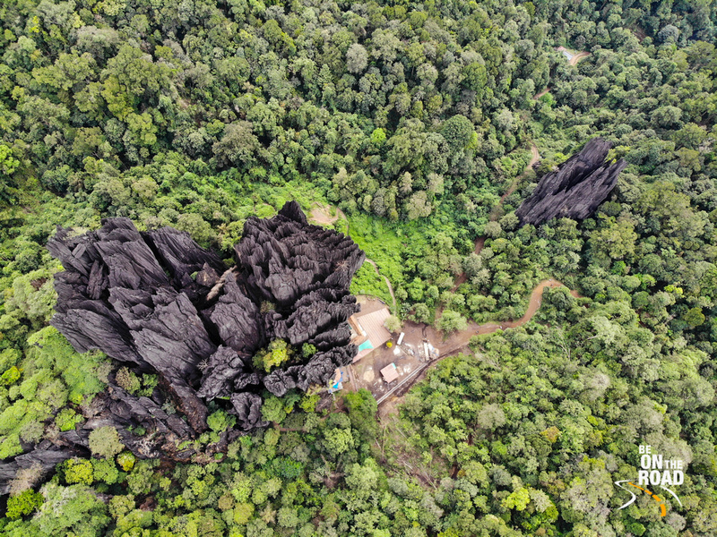 The stunning Yana Rocks surrounded by the dense jungles of the Western Ghats