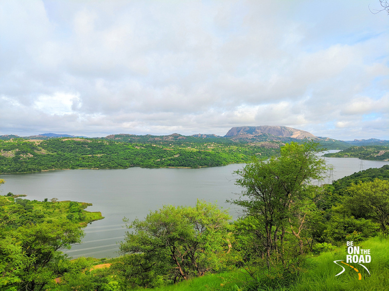 Manchinbele reservoir - all vibrant and green in the monsoon season