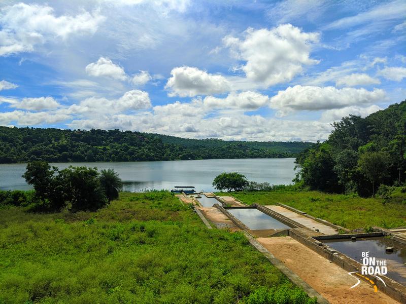 The lush view of Machinbele Dam at Dabbaguli village