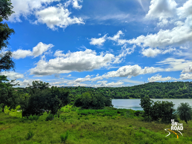 The pristine Manchinbele reservoir view from Dabbaguli village