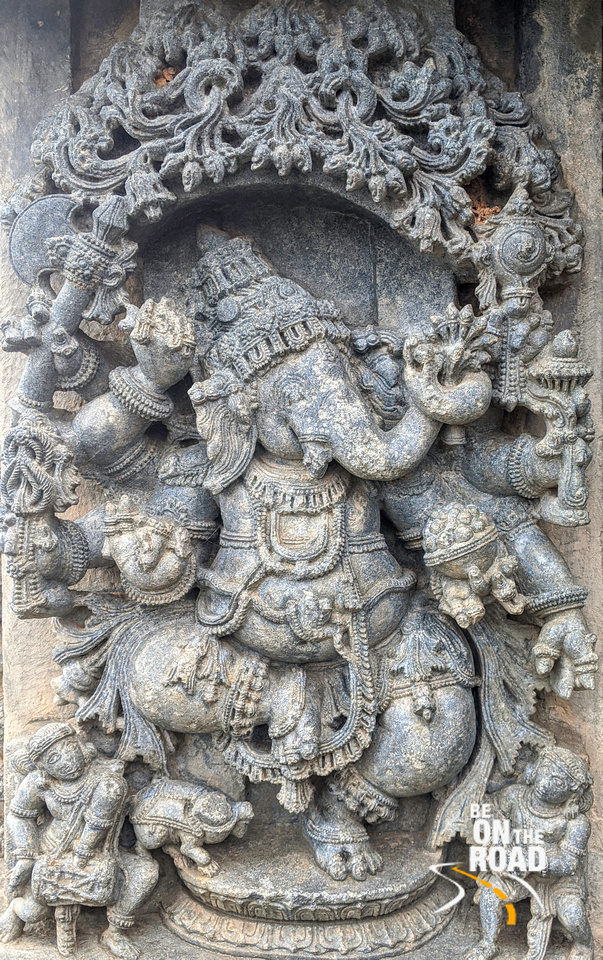 Dancing Ganesha or Tandav Ganesha at Lakshmi Narasimha Temple, Nuggehalli