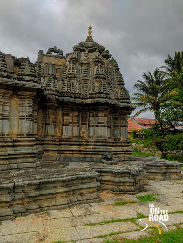 Sadashiva temple of Nuggehalli village on a monsoon morning
