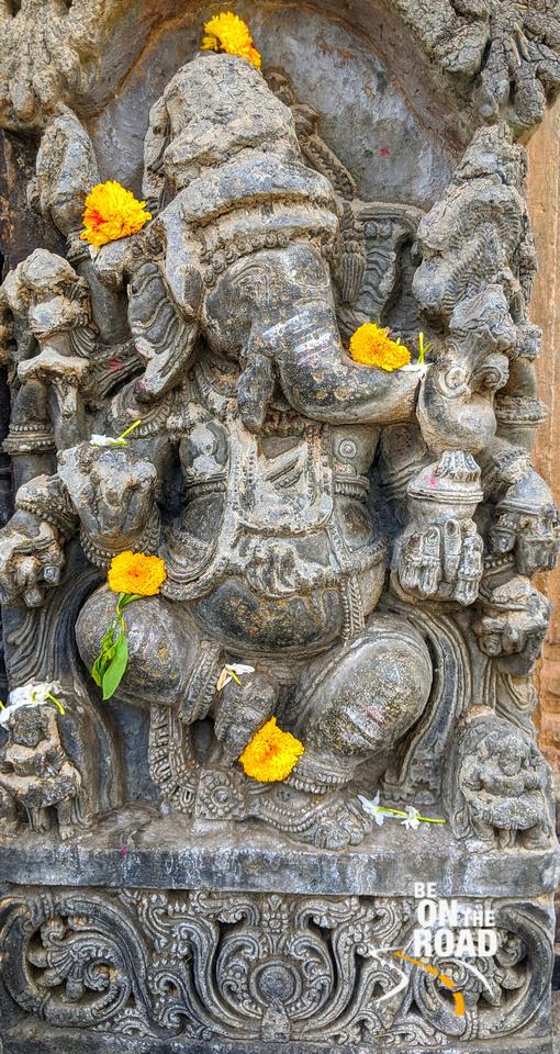 Dancing Ganesha at Aralaguppe Chenna Keshava temple