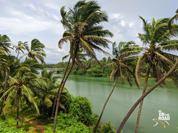 The river environment at Maravanthe, Karnataka