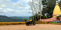 Devimane Ghat Pit Stop - the temple, the motorcycle and the view