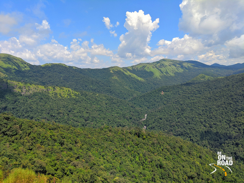 The carpet of green as seen from Bisle view point, Karnataka