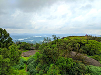Spectacular view from the top of Kavaledurga Fort, Karnataka