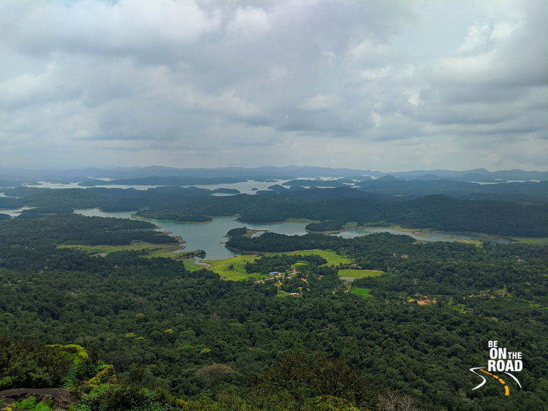 Varahi reservoir as seen from the top of Kavaledurga Fort