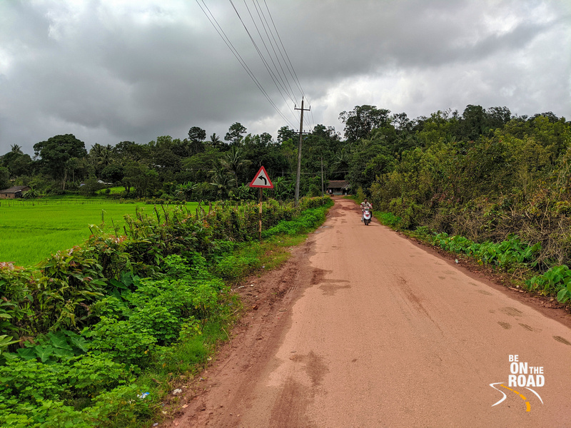 A monsoon road way from Uttara Kannada region of Karnataka