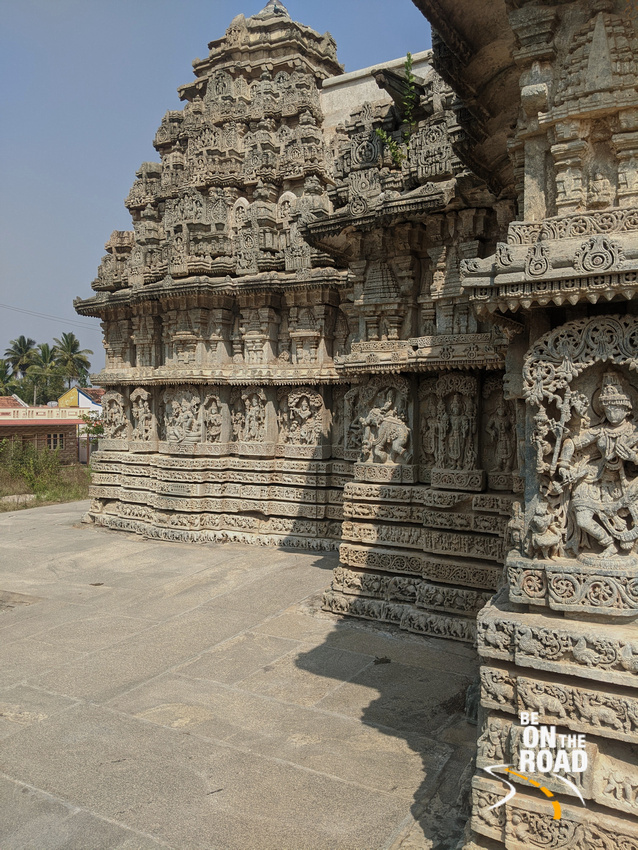 The intricately carved Lakshmi Narasimha Temple at Javagal, Karnataka