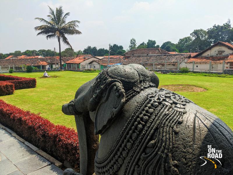 Carved elephant at Veera Narayana Temple, Belavadi