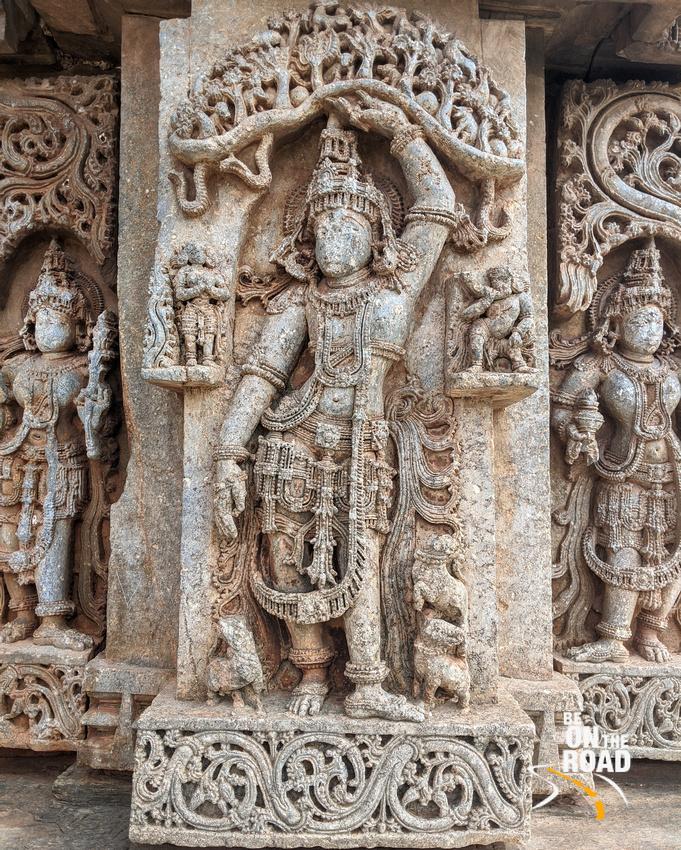 Stunning carvings  at Veera Narayana Temple, Belavadi
