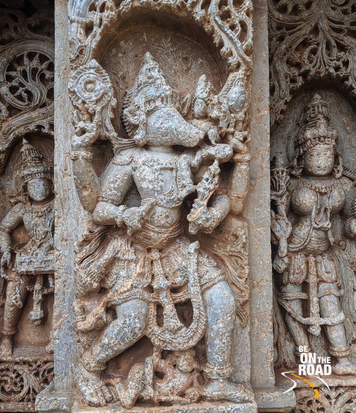 Varaha Avatar on the exterior walls of Veera Narayana Temple, Belavadi