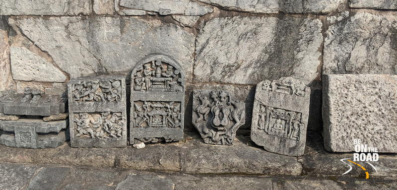 Stone carving remnants of Lakshmi Devi temple shrines