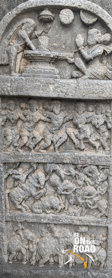 Ancient stone carvings at Lakshmi Devi Temple, Doddagaddavalli