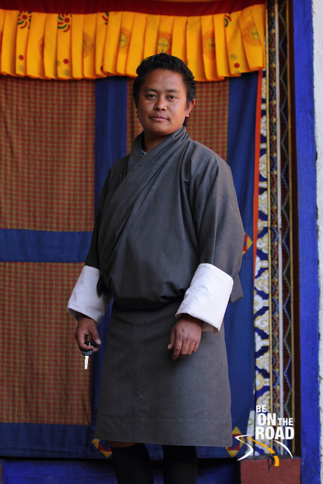 A Bhutanese Travel Guide at Kyichu Lakhang, Paro