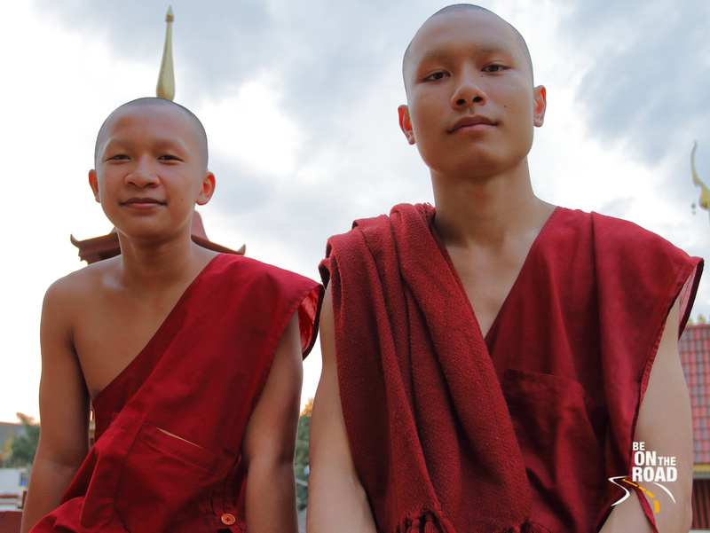 Young Buddhist monks at Wat Chedi Luang, Chiang Mai, Thailand