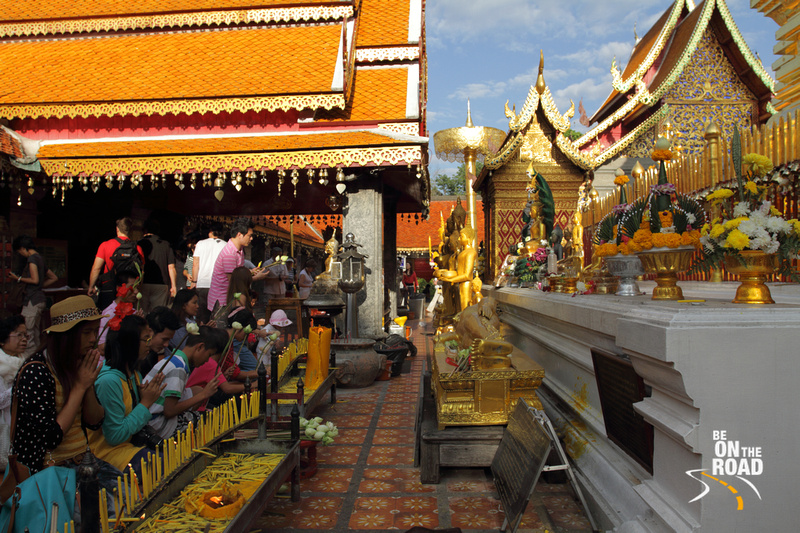 Offering prayers at Wat Phra That Doi Suthep, Chiang Mai, Thailand